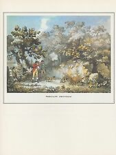 "1974 Vintage HUNTING ""PHEASANT SHOOTING #1"" FLINTLOCK LONG GUN COLOR Lithograph"