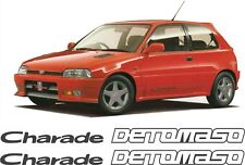 Daihatsu Charade Detomaso replacement side decals stickers 1.6 16V GTi SOHC