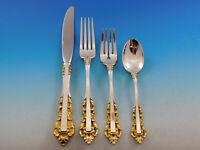 Medici Golden Accent by Gorham Sterling Silver Flatware Set Service 24 Pieces