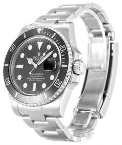 Rolex Submariner Date Men's Black Watch - 116610LN