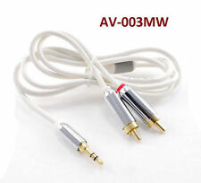 "3ft Mobile-Type Stereo 3.5mm (1/8"")  Male to 2-RCA Male Flexible Audio Cable"