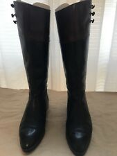 Classic Joan & David Two Tone leather Riding Boots
