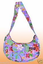 Banana shaped Hawaiian print purse - 313Purple