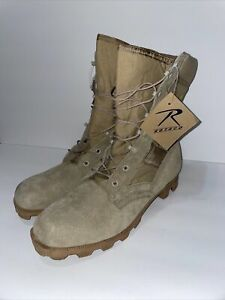 Rotchco Desert Tactical High Top Military Lace Up Boots Mens Size 11