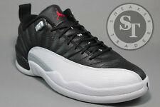 AIR JORDAN 12 XII RETRO LOW 308317-004 PLAYOFFS BLACK VARSITY RED WHITE SZ: 10