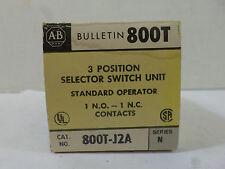 New Surplus Allen Bradley 800T-J2A Ser N 3 Position Selector Switch
