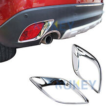 For Mazda Cx-5 2012-2016 Chrome Rear Bumper Fog Light Lamp Cover Trim Molding