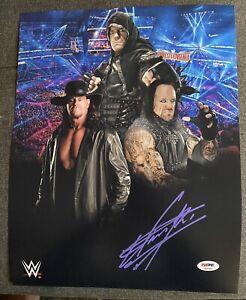 Undertaker Signed  WWE 11x14 Photo Pic PSA DNA COA W Card