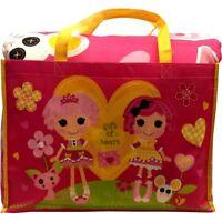 5pc LALALOOPSY TWIN BEDDING TOTE BAG SET Pink Gingham Rag Doll Comforter Sheets