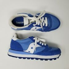 Women's Saucony Jazz Running Shoes Size 5 Blue White Low Pro Retro