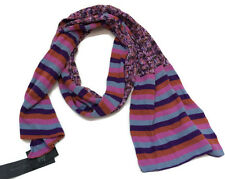 Marc Jacobs Scarf Striped Misted Lavender Cotton New