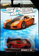 McLAREN F1 GTR Hot Wheels Speed Machines Series Dark RED & BLACK Mclaren !
