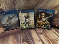 PS4 Game Lot NFL Madden 15, 16 And NBA Live 14 EA Sports PlayStation 4 football