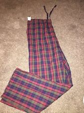 Old Navy Mens XLarge XL Pajama Pants Bottoms Red Plaid Cotton New with Tag ~46""