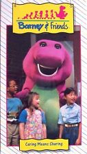 NEW SEALED Barney & Friends CARING MEANS SHARING Time Life Video VHS 1992 OOP