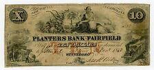 1853 $10 The Planters Bank of Fairfield - Winnsboro', SOUTH CAROLINA Note