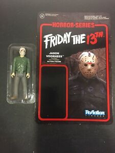 Funko ReAction JASON VOORHEES figure Friday the 13th loose figure w knife & card