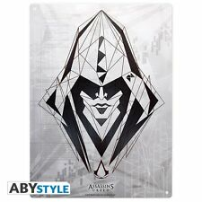 Figuras assassins creed-chapa escudo Escudo de muro-Assassin logotipo - 38 x 28 cm