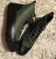 NWT HUNTER for Target Green Dipped Canvas High Top Sneakers Ankle Boots Mens 13