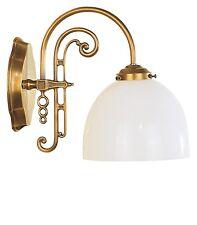 Wandlampe Antikstil Lampe antik messing Glas mundgeblasen Wandleuchte Stillampe