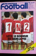 France Football 24/09/1985; Loto Sportif/ Hervé Olczyk/ Bordeaux-Fenerbahce