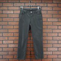 Lafayette 148 New York Wax Coated Denim Mercer Jeans Black Mid-Rise Ankle Sz 4P