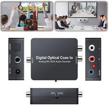 Digital Optical Coax to Analog R/L RCA Audio Decoder Converter Adapter  5.1CH
