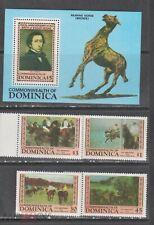 Dominica 1984 Dega art paintings  set+s/s MNH