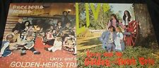 LOT OF 2 PRIVATE 70s XIAN FOLK CANADA LPs STRANGE COVERS The Golden Heirs Trio