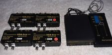 Burst Electronics VMF-2 VIDEO MIXER/FADER AND 4 VDA-2 EQ Video Equalizing DA