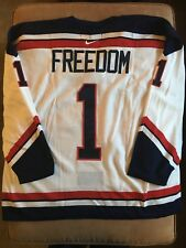 Nike Olympic USA #1 Freedom Hockey Jersey Mens Size XXL 2XL