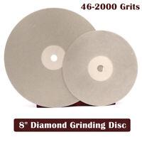 """8"""" Diamant Schleifscheibe Schleifstein Körn 46-3000 Schleifmaschine 200mm"""