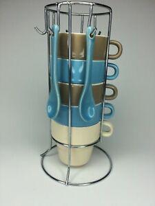 Kirkland's Stacking Espresso Set, Coffee Cup, Stackable Mug Set