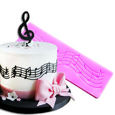 Music Note Lace Silicone Fondant Mat Cake Decorating Baking Mold Mould Tools