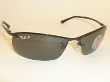 New  RAY BAN  Sunglasses  Black Frame  RB 3183 002/81  Smoke Polarized Lenses