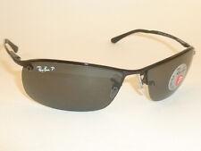 New  RAY BAN  Sunglasses  Black Frame  RB 3183 002/81  Smoke Polarized Lenses