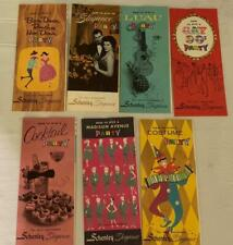 7 Vintage 50's / 60's Schenley Liquors How to Give a Party Pamphlets