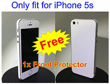 iPhone 5s 3M Di-Noc White Carbon Fiber Vinyl Full Body Skin sticker * For i5s *