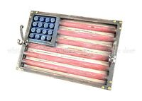 """15.5"""" Western Large Wood Wall Hanger Vintage American Flag Rotting Paint Nail"""