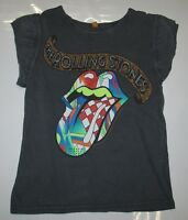 AMPLIFIED ROLLING STONES Multi Strass Zunge Rock Star ViP Vintage T-Shirt g.M