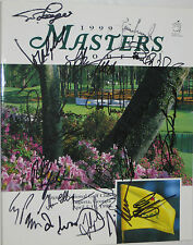 Masters golf signed program sam snead phil mickelson + champs augusta national