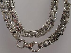 Schöne Silber Königskette 925er Sterling Silber Silberkette collier