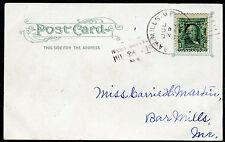 Postcard - West Buxton ME TO Bar Mills ME - JUL 25 1907 PEAKS ISLAND - S6421