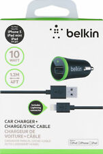 NEW Belkin 2.1AM Fast Car Charger Sync Lightning Cable iPhone Cable 5 6 7 8