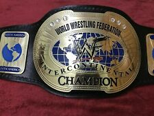 WWF INTERCONTINENTAL IC OVAL CHAMPIONSHIP BELT IN 2MM BRASS PLATED