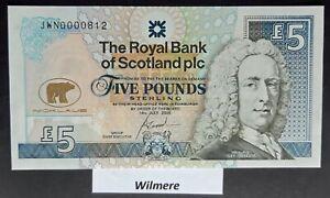 Royal Bank of Scotland £5 (P365) 2005 JWN Commemorative  *UNC*