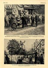 Erbprinz v.Hohenlohe-Langenburg Regent v.Koburg-Gotha Akademisches Turnfest 1901