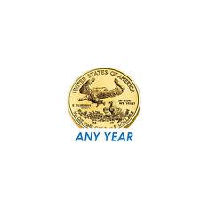 Lot of 2 - 1/10 oz Gold American Eagle $5 Coin BU - Random Year