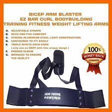 WEIGHT LIFTING BODY BUILDING TRAINING ARM BICEP BLASTER CURL BARBELL BENCH TOOL