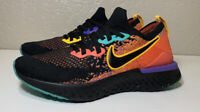 Nike Womens Epic React Flyknit 2 Running Shoes Black Ember Glow Size 7.5 $150